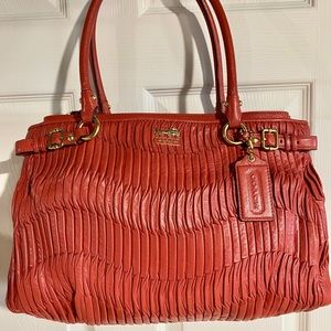 COACH Madison Gathered Kara in Luxurious Coral